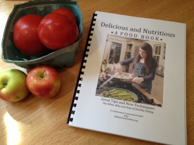 A glimpse at a draft copy of the Nutritious Delicious FoodBook!  Looks like another cookbook, but it's not!