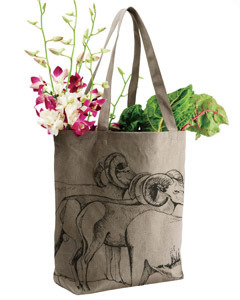 LIMITED EDITION HAND PRINTED TOTE by RISE ABOVE in Oakland, CA