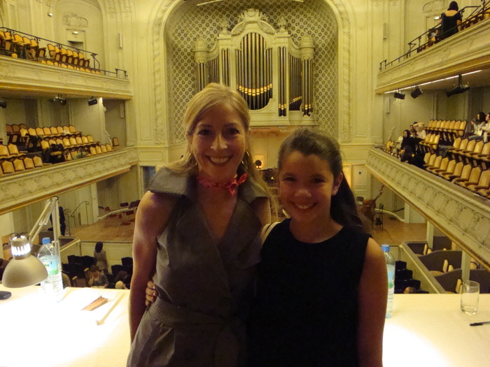 In the Salle Gaveau, at the Lily Laskine Concour with my student Katie Kapelsohn