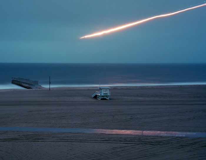 """Planes Landing LAX Runway 5"" (2011) a digital print by Kevin Cooley"