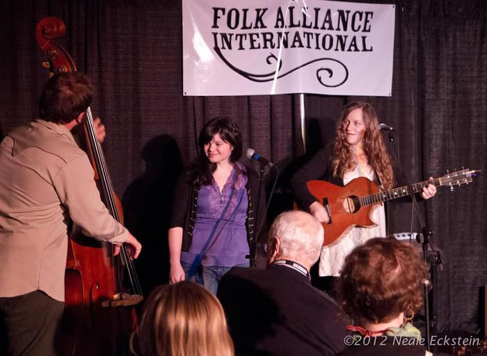 at folk alliance 2012 with Rebecca Loebe!