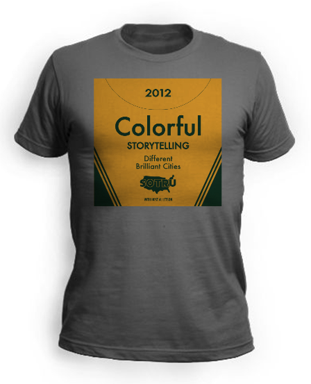 T-Shirt Option #2 - Colorful Storytelling
