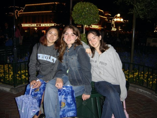 Jennifer, KM Ricker, and Kara at Disneyland the year SFA was started