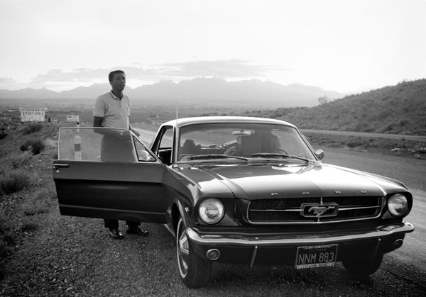 ARTHUR ASHE WITH MUSTANG 1966.  Yours with your generous contribution.