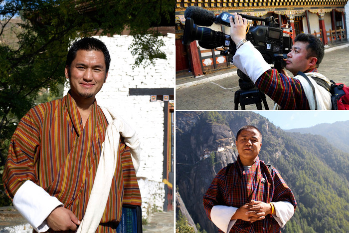Left: Dorji Tashi - Top right: Kinley Penjor - Bottom right: Rinchen Dorji