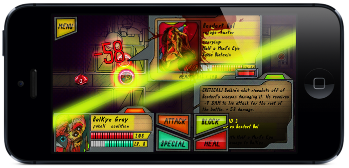 Galactic Keep gameplay on an iPhone 5