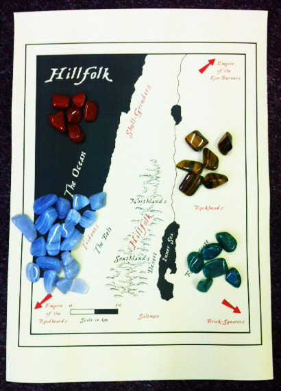 Preview of Hillfolk semi-precious tokens
