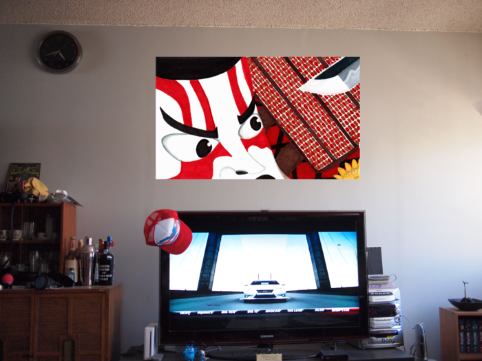 Whats better the TV or the Wall Art?