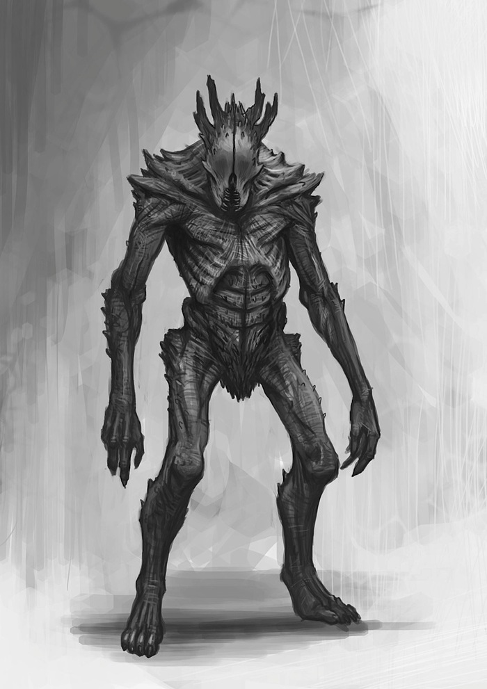 Swarm Adult form 1 concept art by Des Hanley. The 28mm artwork.