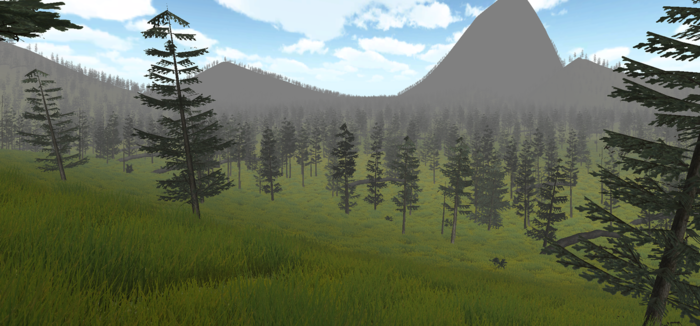 Ground level view of terrain map