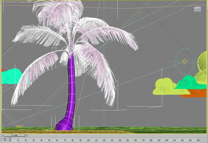 Building the island - wireframe view