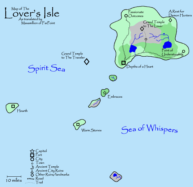 One of the detailed island maps.
