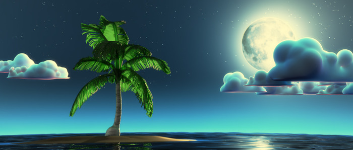 Island image draft - CG render
