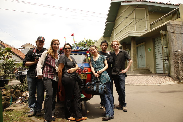 The crew with Kirsty Sword Gusmao in Jakarta