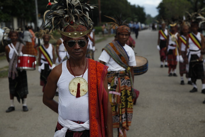 parade in Maliana, Timor-Leste, photo by Alex Meillier