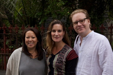 Tanya Ager Meillier (producer), Kirsty Sword Gusmao, Alex Meillier (director) in Melbourne