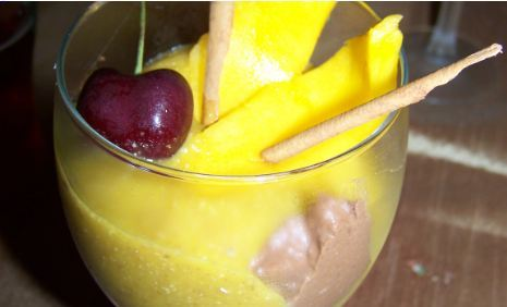 Chocolate and Mango Mousse dessert