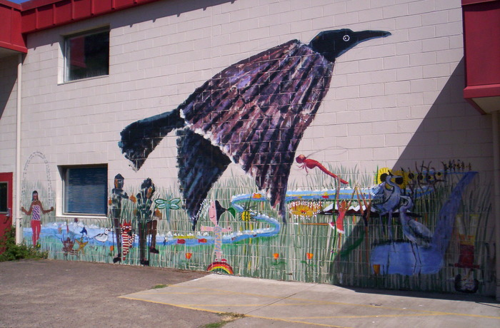 Painted by local artist and Crow kids! Summer 2010