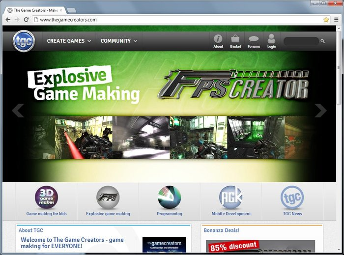 The Game Creators Website
