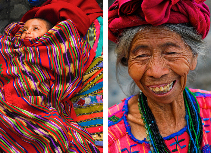Left: Threads of a Mayan Child, Right: Laugh Lines