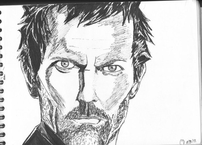 Dr. House in sharpie