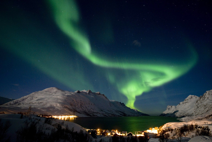 Northern lights outside of Tromsø, Norway