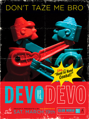 An original Devo poster by Kii Arens