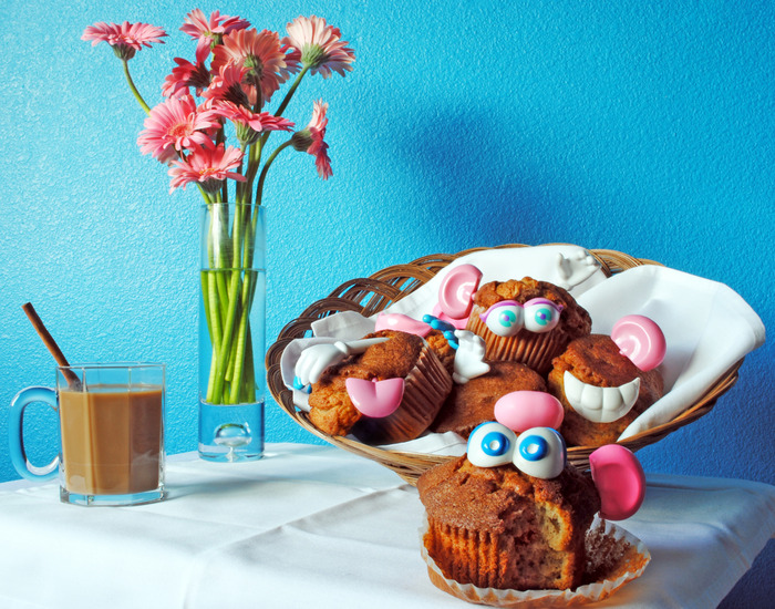 SWEET POTATO HEAD MUFFINS