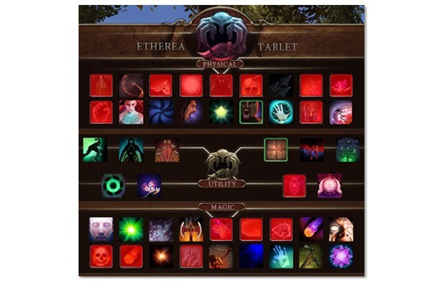 Etherea Tablet and Progression System