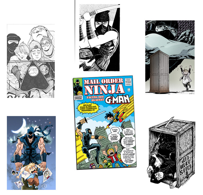 "The many faces of ""Mail Order Ninja!"""