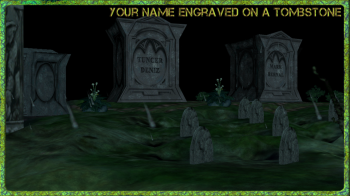 Stake your claim in the Myth world by storing your dead buddies side by side!!  Get Guild or family crypts, plots and graves grouped together when people support the project at these tiers and higher.