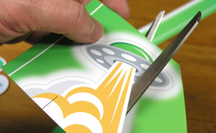 Desktop Gremlins are easy to cut out using only scissors!