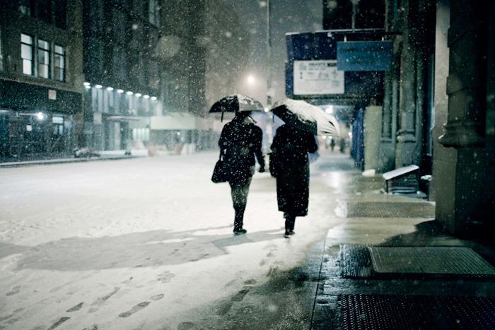 Bernie DeChant - Snowfall, Manhattan, 2008