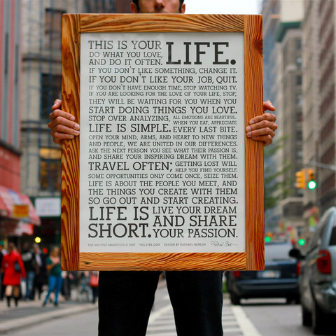 The Famous Holstee Manifesto