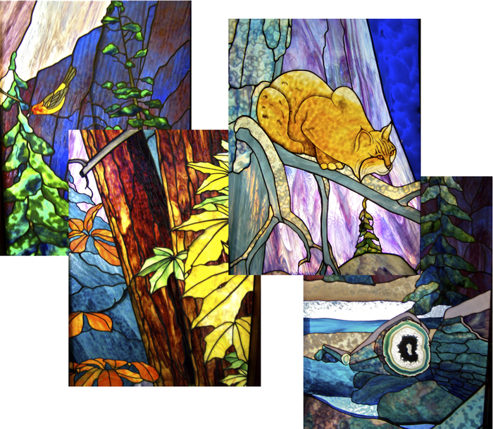 Selected 2' x 3'  samples of Mural Details.