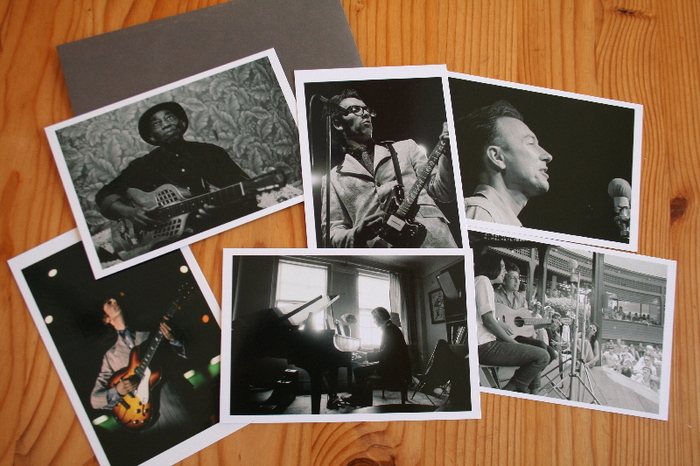 "Iconic Musicians Postcard Set, and DVD-- our way of saying ""thank you""."
