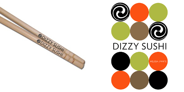 """Dizzy Sushi"" Chopsticks and Poster."