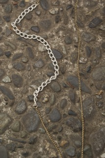 Vintage Reconstructed Asymmetrical Chain like those used in all Mini Necklaces and Large Pendant Necklaces.  Each chain is different and all chains will be submitted for your approval before shipment. (Reward levels $40 and $55)