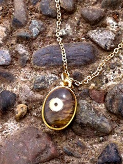 Mini Necklace with natural orchid petal. (Reward level $40)