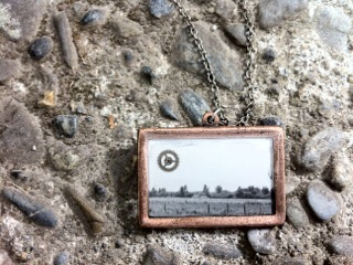 Necklace made with antique photograph (Reward level $55)
