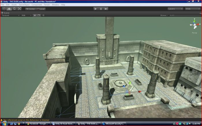 working with unity 3D this is a test area for the combat system im working on for the game