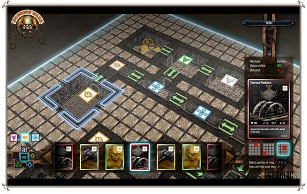 Isometric dungeon building: put one trap in front of another