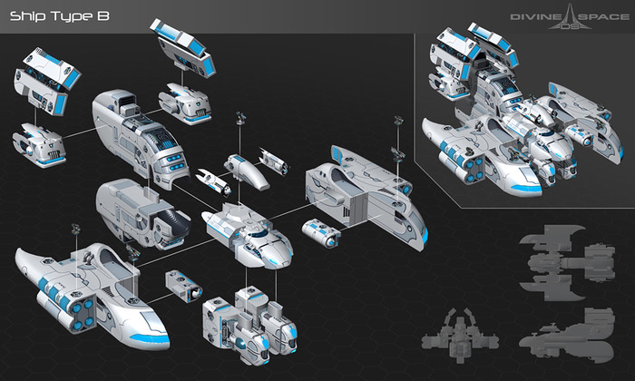 In-game Fardwellers constructor: one of millions of ways that they can be assembled into a ship
