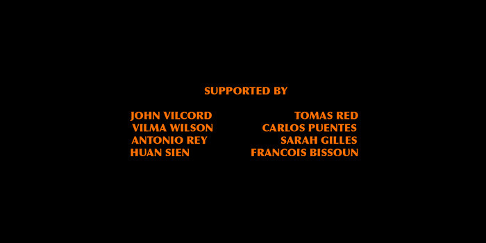 Graphic 2 - Contributors name will appear on the opening credits as supporters