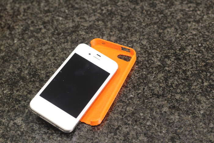 Custom printed iPhone 4s case out of orange ABS
