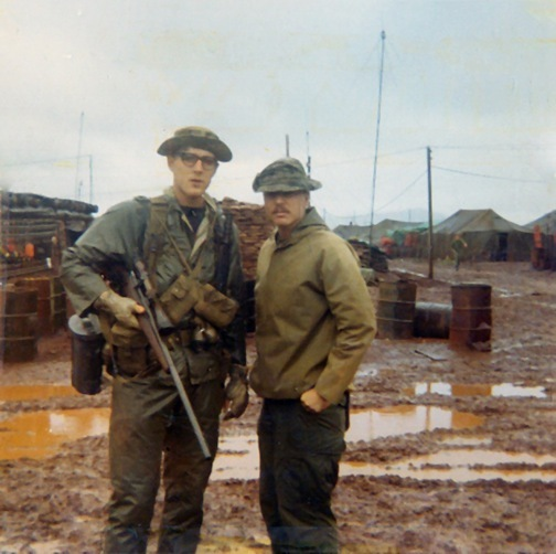 Frank Jones in Khe Sanh during Monsoon