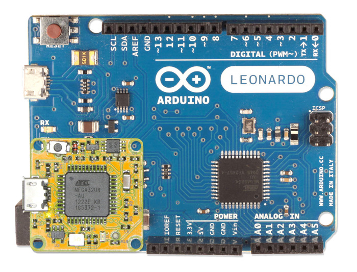 The smARtCORE L is 100% compatible with ARDUINO™ Leonardo