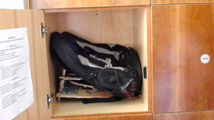 Board Folded Inside Locker