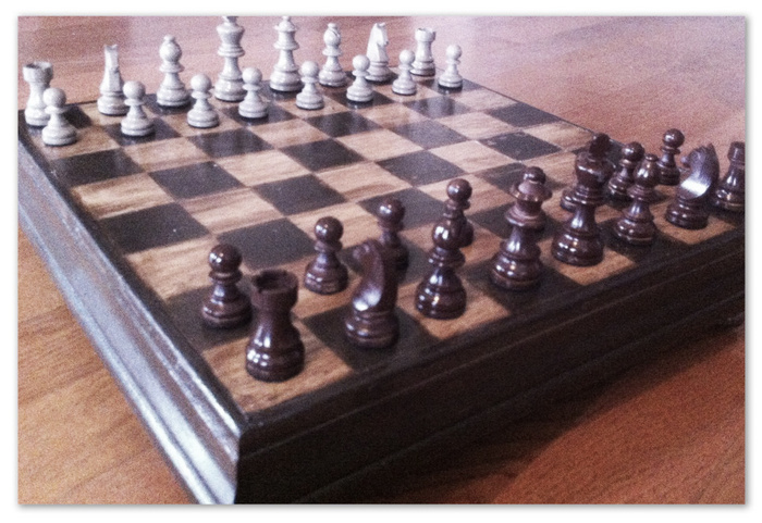 A CUSTOM MADE CHESS SET