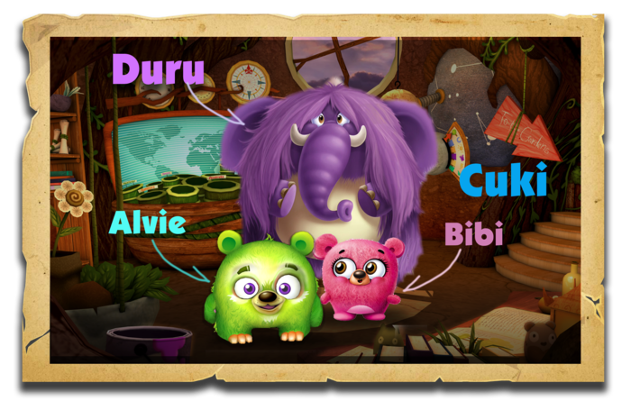 Kids get to know our loveable cast of characters Alvi, Bibi Cuki and Duru